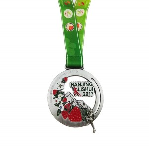 100% Original Factory Directly Manufacture Custom Marathon Running Race Sport Square Finisher Metal Medal With Ribbon