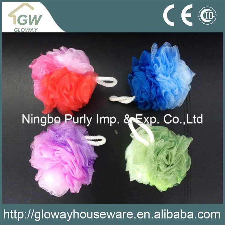 China supplier high quality colorful mesh bath sponge