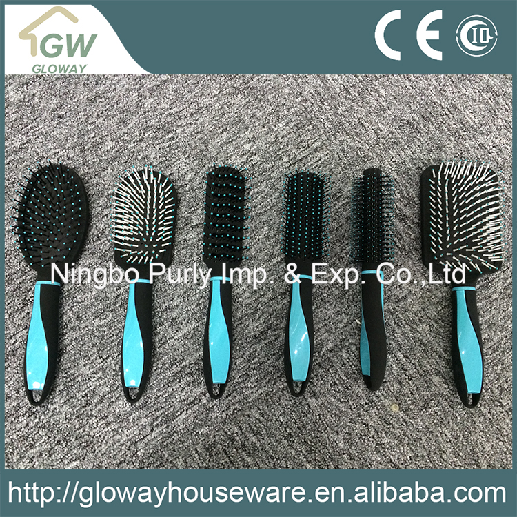 Oval/round custom plastic hair brush