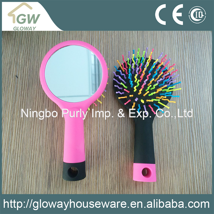 Promotional custom design rainbow high quality hair brush