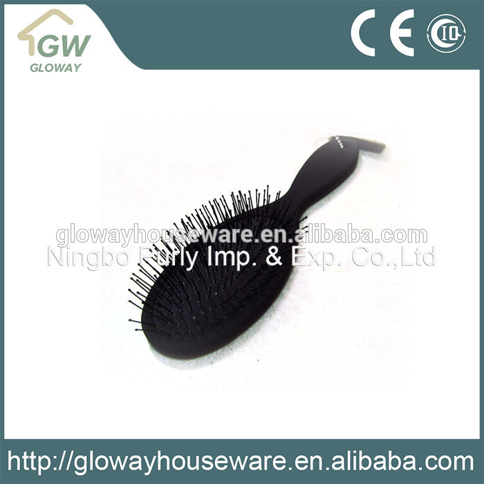2017 newest hot selling plastic hair brush with oval mirror