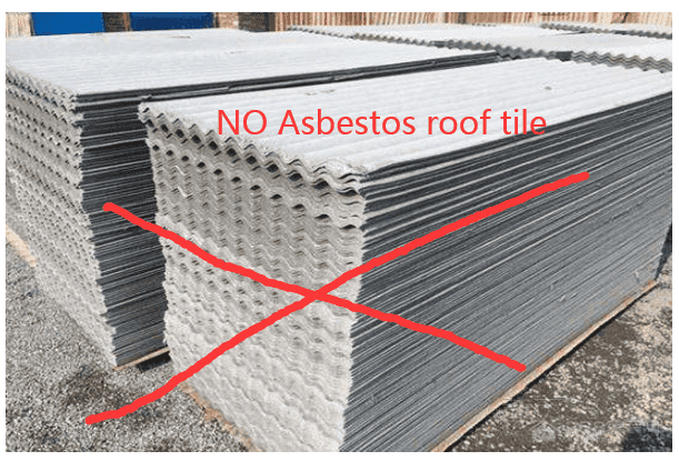 The harm of asbestos tiles
