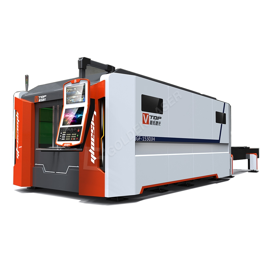 Super Lowest Price Machine For Metal Tube Or Profile - Full Closed Pallet Table CNC Fiber Laser Metal Sheet Cutting Machine – Vtop Fiber Laser