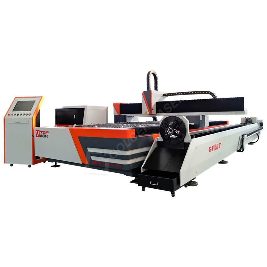 1000W Logam Sheet dan Tabung Fiber Laser Cutting Machine