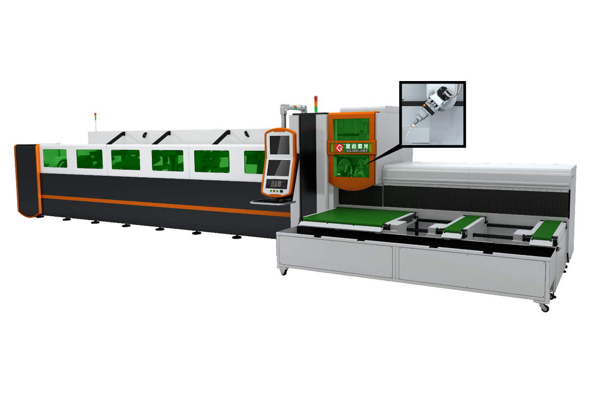 3D 5Axis Fiber Laser Tube Cutting Machine -Bevel Cutting