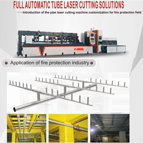 Fully Automatic Fiber Laser Tube Cutting Machine Solution For Fire Pipeline In Korea