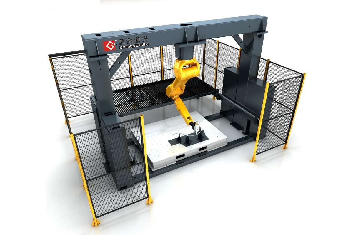 Multifunction 3D Robot Laser Cutting Machine For Metal Sheet And Metal Tube Cut