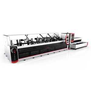 3000W 4000W Helautomatisk Fiber Laser Pipe Cutting Machine for tunge maskiner