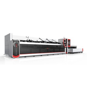 2500w 3000w Fiber Laser Metal Cutting Machine üçün Round, Square Tube / Pipe