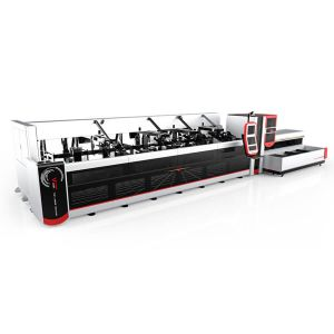 3000w 4000w Fully  Automatic Fiber Laser Tube Cutting Machine P3080A