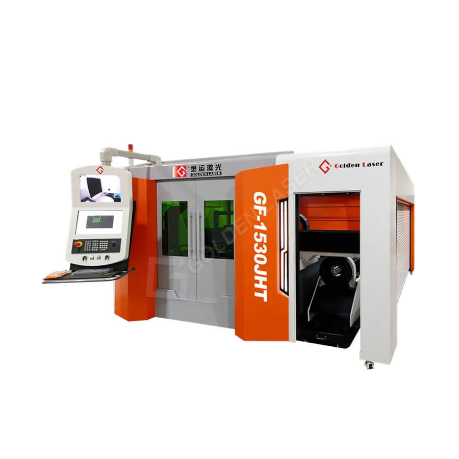 Full Protective Dual Table Fiber Laser Tube and Sheet Cutting Machine