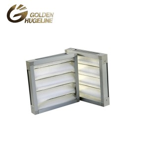 Galvanized Steel Pleat high lofted synthetic fiber Primary air filter industrial filter