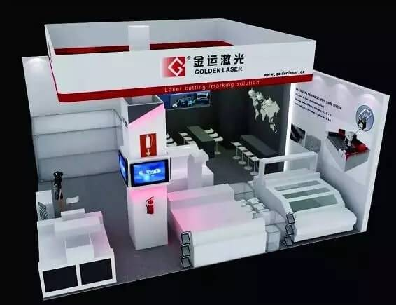 ITMA 2019 Goldenlaser booth renderings