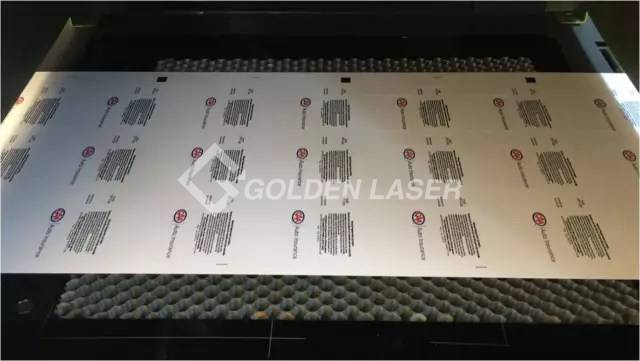 X-Y laser cutting machine for label