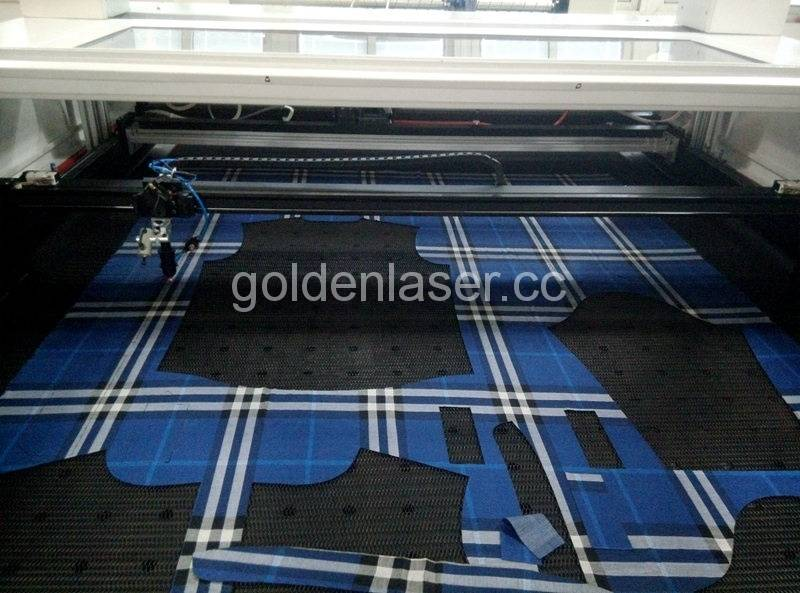 laser cutter for patterned fabric