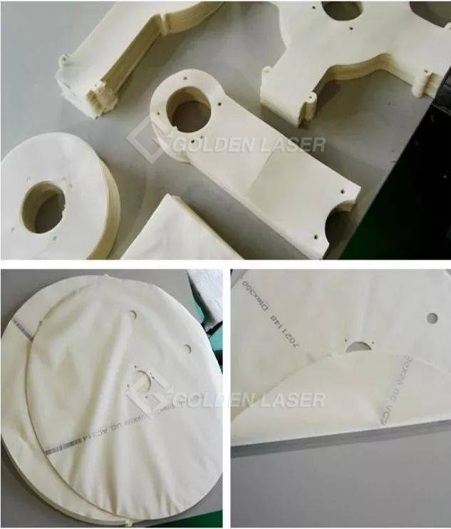 laser cutting airbags cloth sample