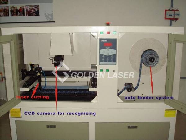 roll feeding laser cutter for woven label