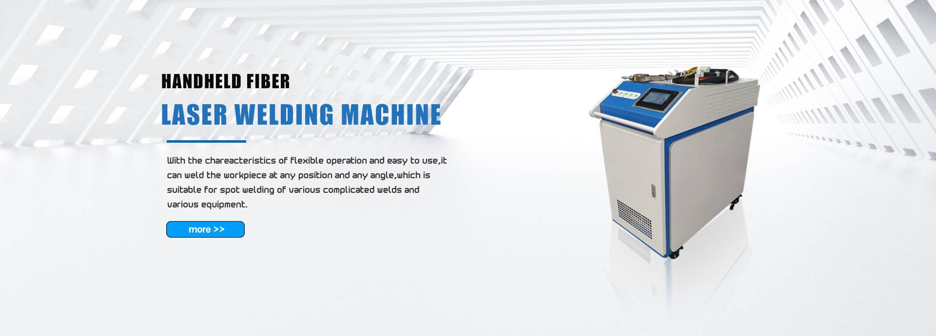 With the chareacteristics of flexible operation and easy to use,it can weld the workpiece at any position and any angle,which is suitable for  spot welding of various complicated welds and various equipment.