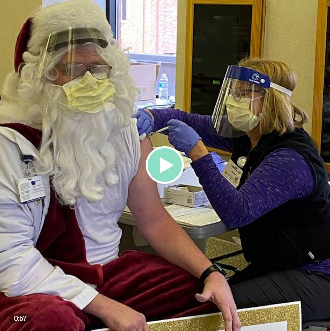 Santa got his COVID-19 vaccine just in time to deliver presents