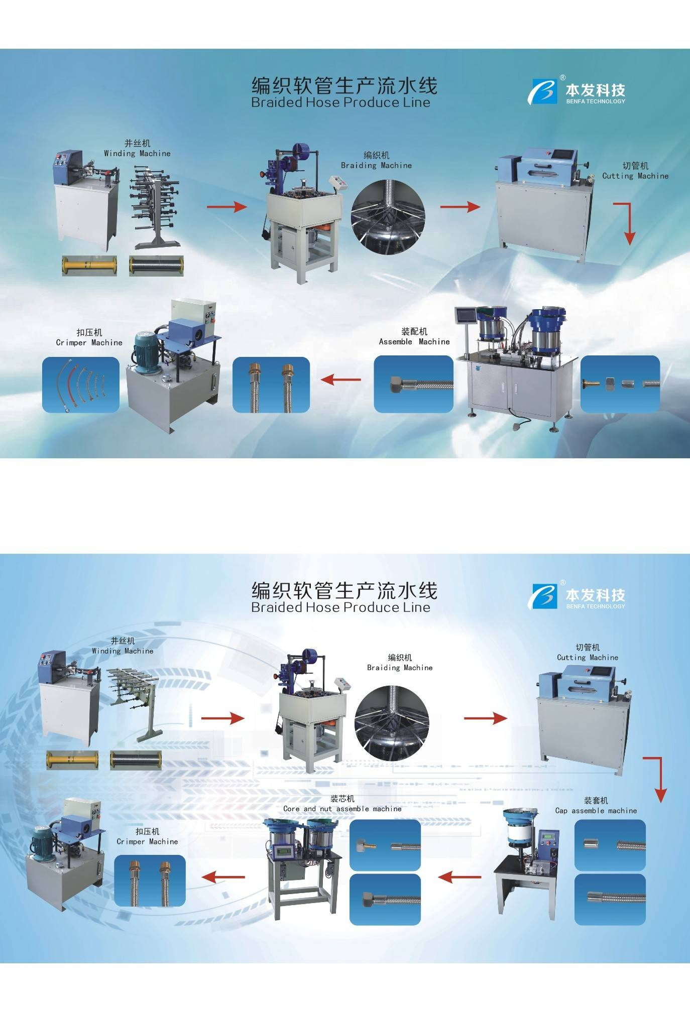 sanitary hose machine