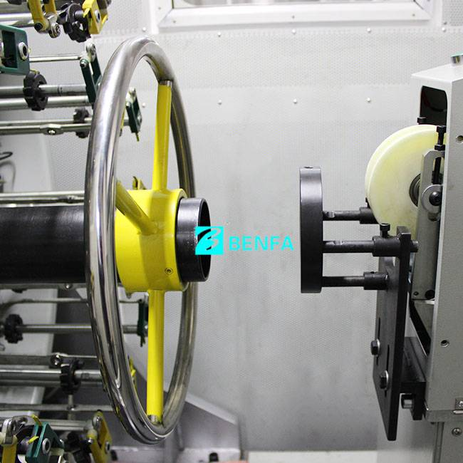 Wholesale Price China Multi Head Automatic Locking Screw Machine - Fixed Competitive Price 4 Deckers Spiraling Winding Machine /wire Braiding Machine – BENFA detail pictures
