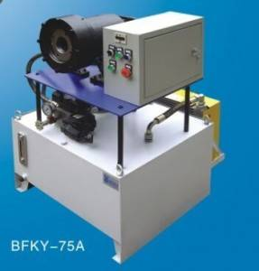 Top Suppliers Single Terry Circular Knitting Machine Used - Big Size Braided Hose Crimper Machine BFKY-75A – BENFA