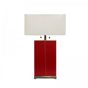Leather Table Lamp,Small Red Table Lamp | Goodly Light-GL-TLM022