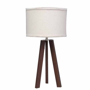 Tripod Table Lamp Wood,Dark Wood Table Lamp | Goodly Light-GL-TLW008