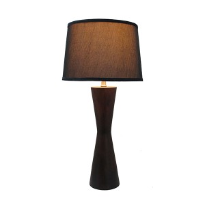 Mid Century Wood Table Lamp,Brown Wood Table Lamp | Goodly Light-GL-TLW044