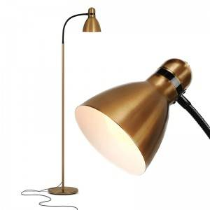 Cheap Gold Floor Lamp,Brass and Black Floor Lamp | Goodly-GL-FLM100
