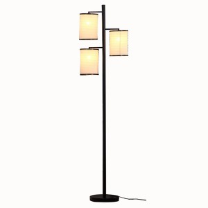 Black Tree Lamp, Standing Floor Lamp, Lantern Shade Floor Lamp | Goodly Light-GL-FLM02