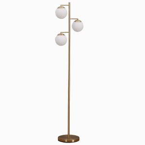 Dimmable Tree Floor Lamp,3-Head Metal Globe Floor Lamp | Goodly Light-GL-FLM13