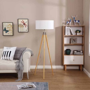 Mid Century Tripod Floor Lamp,Tripod Wooden Floor Lamp | Goodly Light-GL-FLW014
