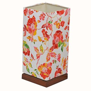 Modern Wood Table Lamp,Table Lamp with Floral Designed Shade | Goodly Light-GL-TLW001-2