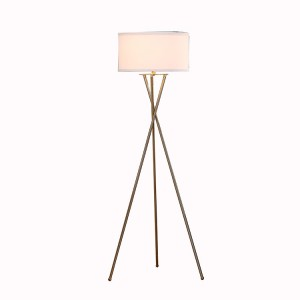 Modern Tripod Floor Lamp,Brushed Brass Nickel Tripod Floor Lamp |  Goodly Light-GL-FLM04