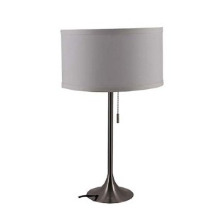 Silver Nightstand Lamps,Metal Base Lamp | Goodly Light-GL-TLM014