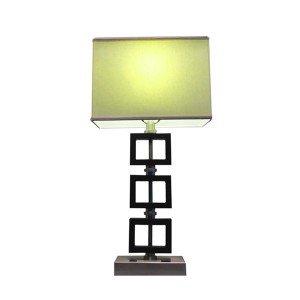 Modern Wood Table Lamp, AC Power Outlet | Goodly Light-GL-TLW041