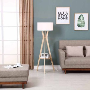Mid Century Modern Tripod Floor Lamp,Tripod Floor Lamp with Shelf | Goodly Light-GL-FLW012