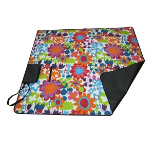 factory low price Biederlack Fleece Blankets - Picnic blanket with shoulder strap – Green Camping