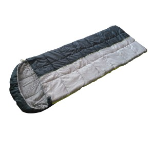 Envelop sleeping bag with hood