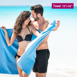 XXL swimming towel, XXL beach towel, XXL quick dry microfiber towel