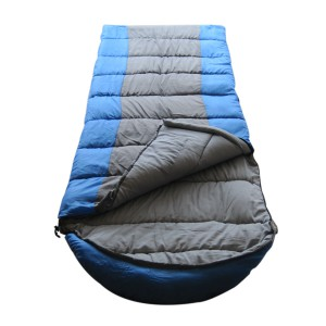 XXL envelope sleeping bag with hood