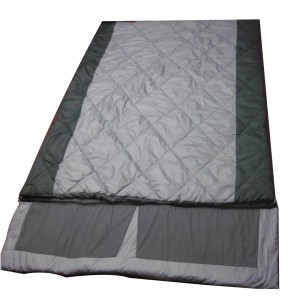 Double adult diamond quilting sleeping bag