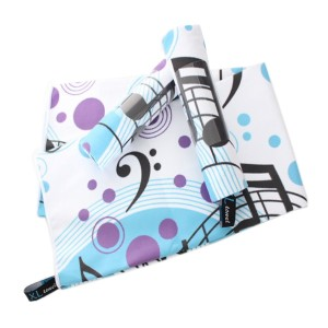 Beach towel printed with music topic, quick dry beach towel, Microfiber beach towel