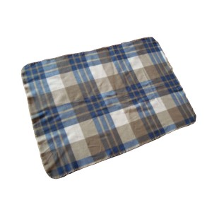 Plaid printing polar fleece blanket