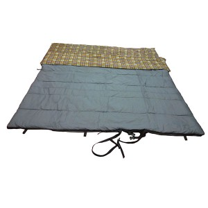 Double adult plaid lining sleeping bag