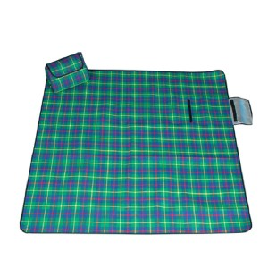plaid outdoor picnic mat waterproof