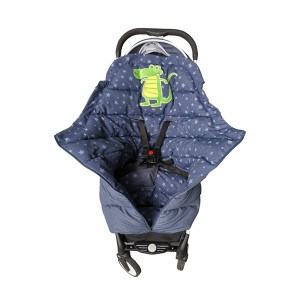 Baby trolley sleeping bag with crocodile embroidery