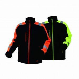 GL8364B Classical Comfortable Fluorescent Hi-Vis Color Softshell Jacket for Men with long zipper