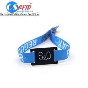 RFID Fabric wristbands ati jufù fun music Festival
